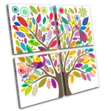 Colourful tree Illustration - 13-0340(00B)-MP01-LO